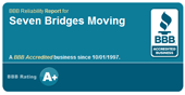 BBB Business Reliability Report for Seven Bridges Moving in Martinez, CA. Business reviews, consumer complaints, and ratings for Seven Bridges Moving a Mover.